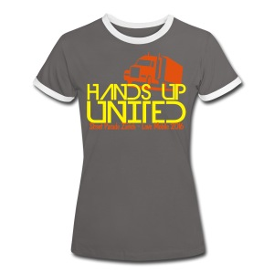 Hands Up United Frauen Top (Gelb) - Frauen Kontrast-T-Shirt