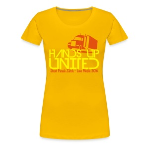 Hands Up United Frauen Top (Gelb) - Frauen Premium T-Shirt