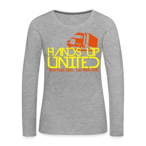 Hands Up United Frauen Top (Gelb) - Frauen Premium Langarmshirt