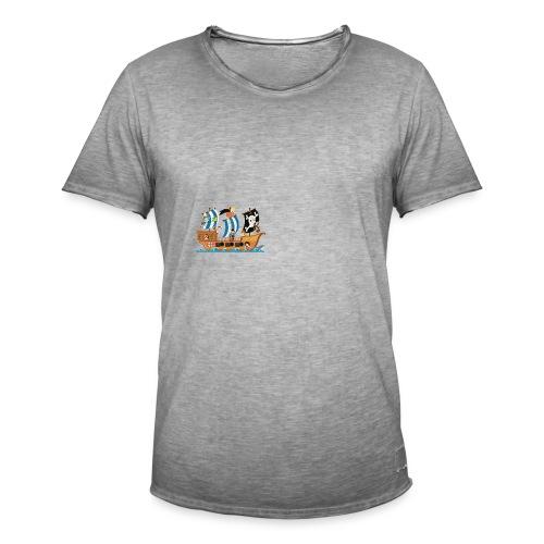 Piratenschiff - Männer Vintage T-Shirt