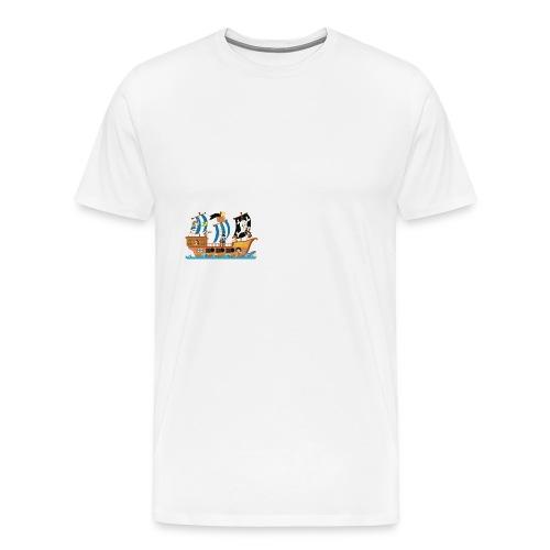 Piratenschiff - Männer Premium T-Shirt