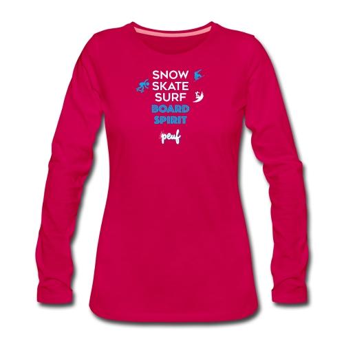 Girl • Board spirit - Women's Premium Longsleeve Shirt
