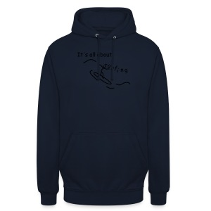 Strichmännchen- It`s all about surfing - Unisex Hoodie