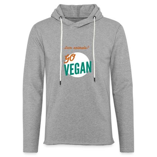 VeganforAnimals Men Grey - Lichte hoodie unisex