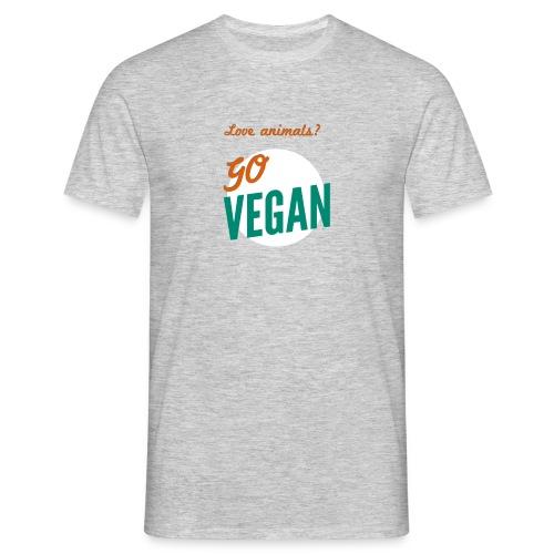 VeganforAnimals Men Grey - Mannen T-shirt