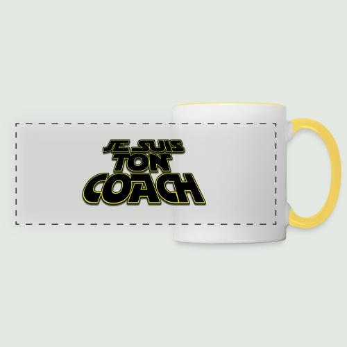 Je suis ton coach - Mug panoramique contrasté et blanc