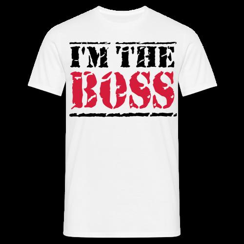 The Boss-Schwarz/ Rot - Männer T-Shirt