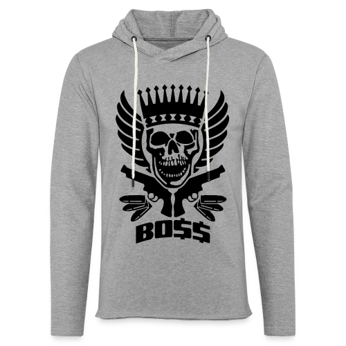 Skrull-Boss & Guns - Leichtes Kapuzensweatshirt Unisex