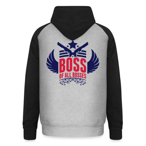 Boss-Navy/ Rot - Unisex Baseball Hoodie