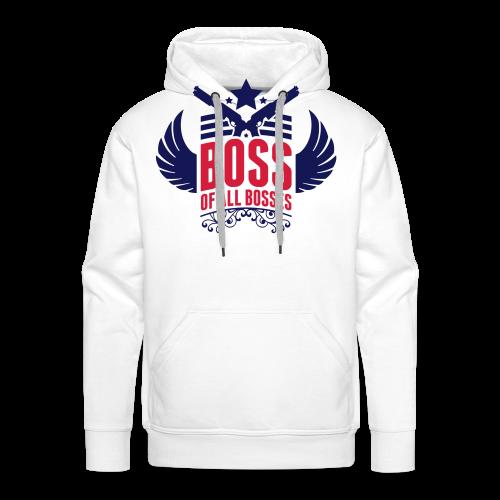 Boss-Navy/ Rot - Männer Premium Hoodie
