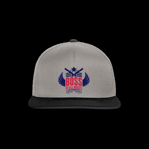 Boss-Navy/ Rot - Snapback Cap