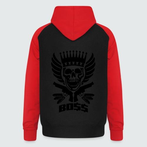 Skull Boss / Rot - Unisex Baseball Hoodie