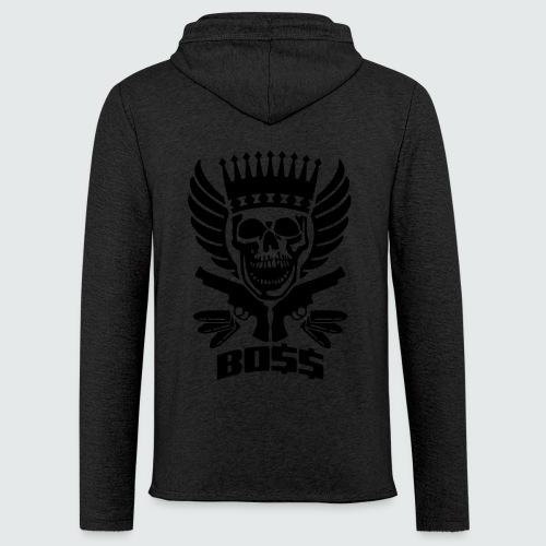 Skull Boss / Rot - Leichtes Kapuzensweatshirt Unisex