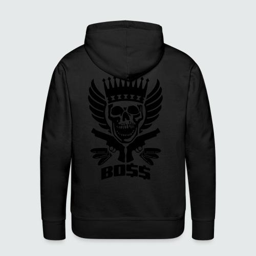 Skull Boss / Rot - Männer Premium Hoodie