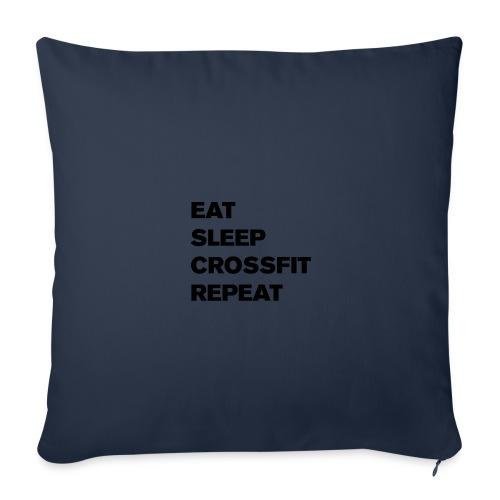 eat sleep crossfit repeat t-shirt - Sofa pillow cover 44 x 44 cm