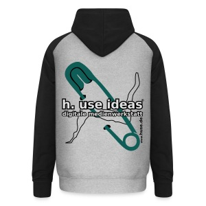 use ideas silbergrau - Unisex Baseball Hoodie