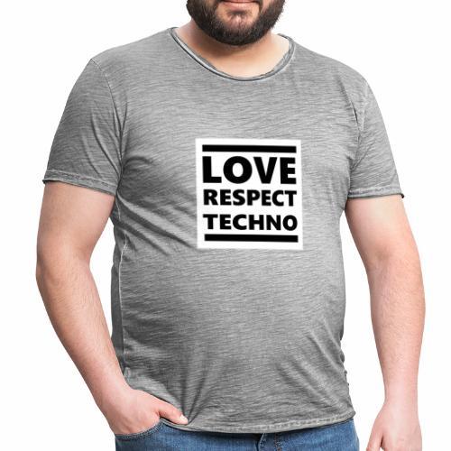 Love Respect Techno - Männer Vintage T-Shirt