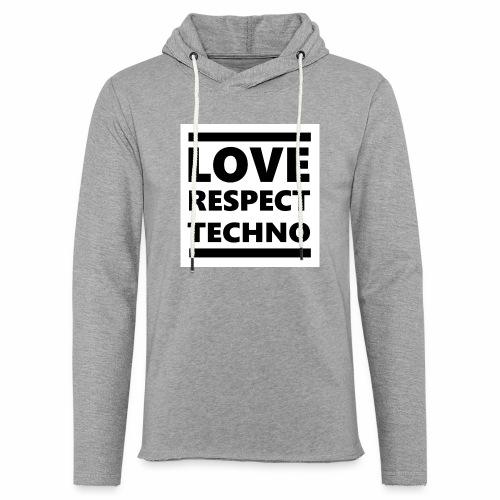 Love Respect Techno - Leichtes Kapuzensweatshirt Unisex