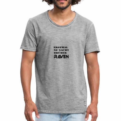 RAVEN - Männer Vintage T-Shirt