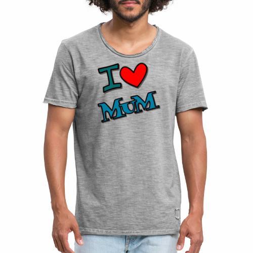 I love mum - Männer Vintage T-Shirt