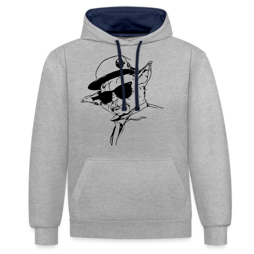 Premium Männer T-Shirt - Kontrast-Hoodie