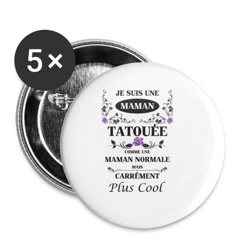 Tasse maman tatouée - Badge petit 25 mm