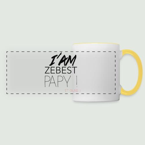 Ze best PAPY ! - Mug panoramique contrasté et blanc