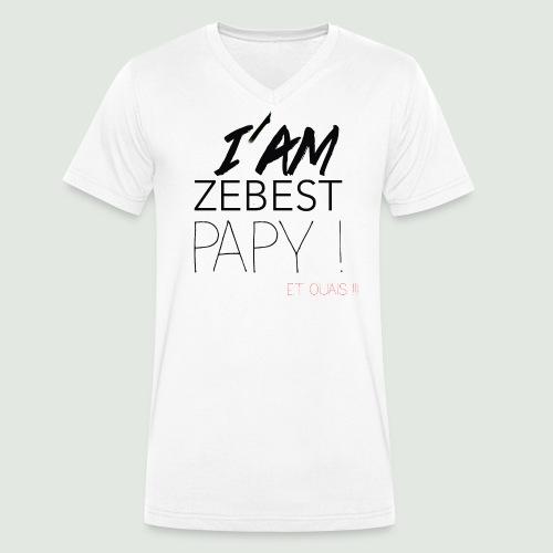 Ze best PAPY ! - T-shirt bio col V Stanley & Stella Homme