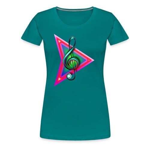 Play music- grand format - T-shirt Premium Femme