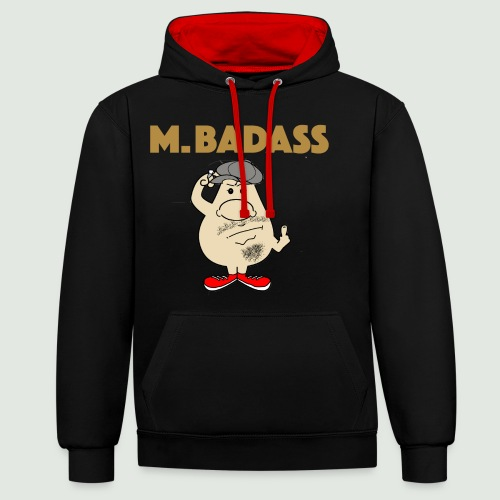 Mr Badass - Sweat-shirt contraste