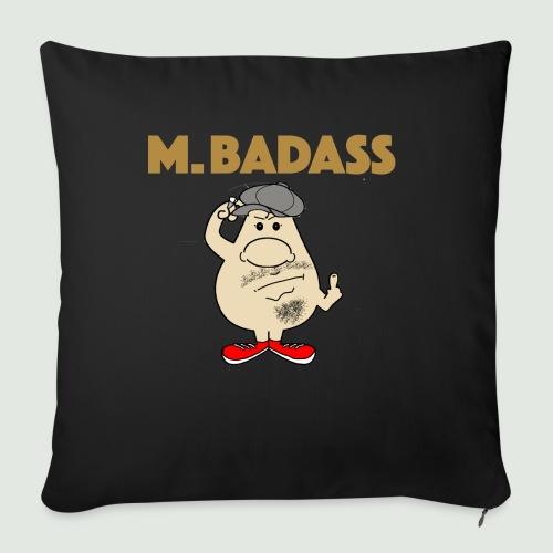 Mr Badass - Housse de coussin décorative 45x 45cm
