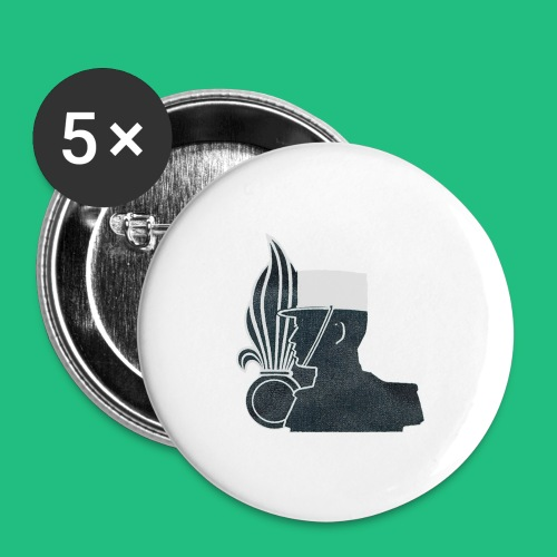 légionnaire flamme et képi blanc - Badge grand 56 mm