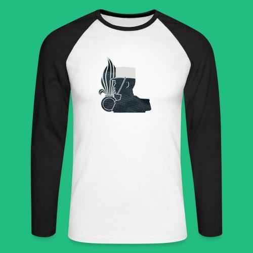 légionnaire flamme et képi blanc - T-shirt baseball manches longues Homme