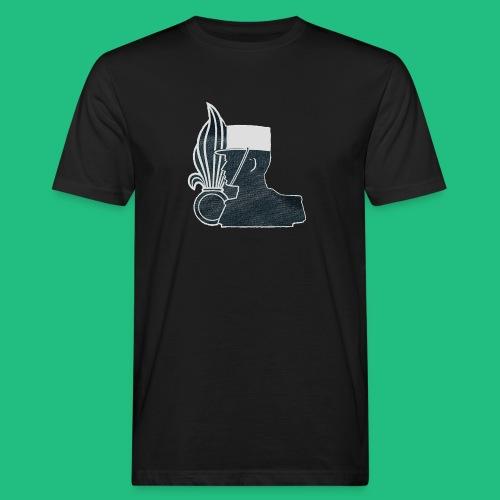 légionnaire flamme et képi blanc - T-shirt bio Homme