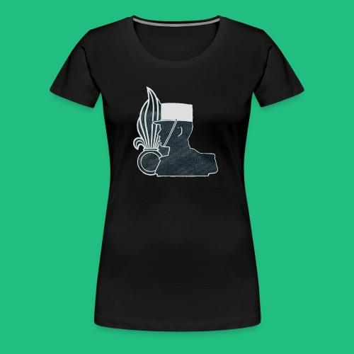 légionnaire flamme et képi blanc - T-shirt Premium Femme