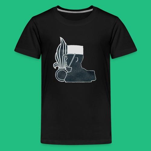 légionnaire flamme et képi blanc - T-shirt Premium Ado