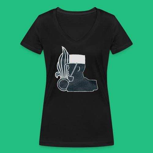 légionnaire flamme et képi blanc - T-shirt bio col V Stanley & Stella Femme