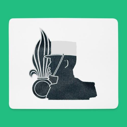 légionnaire flamme et képi blanc - Tapis de souris (format paysage)