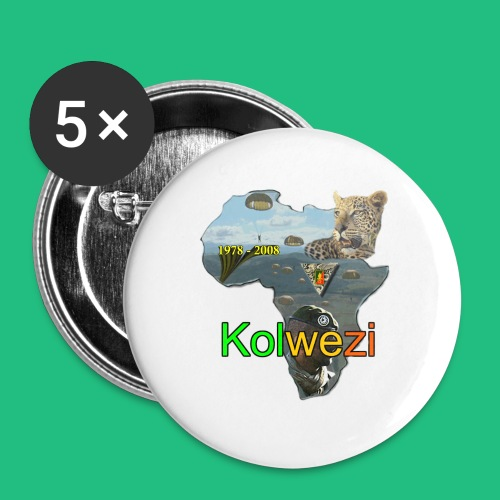 Kolwezi 2e REP - Lot de 5 grands badges (56 mm)