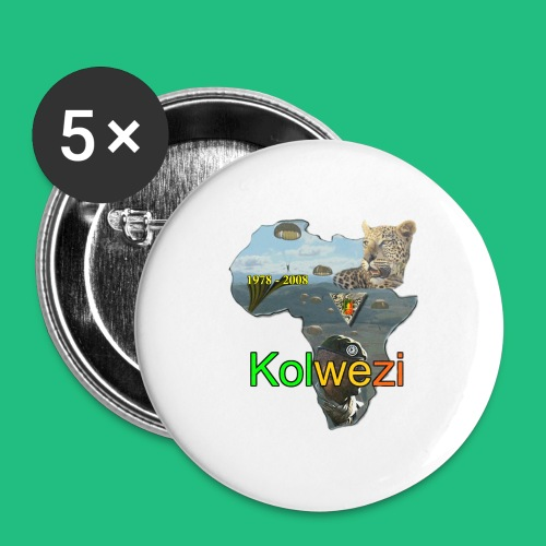 Kolwezi 2e REP - Lot de 5 moyens badges (32 mm)