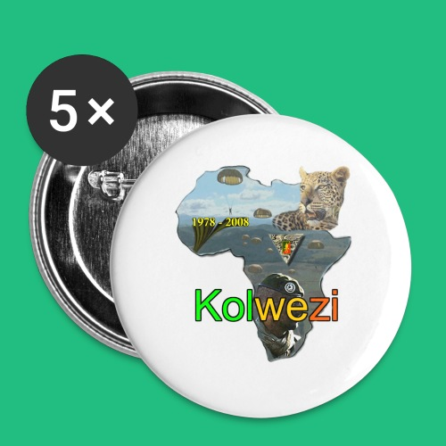 Kolwezi 2e REP - Lot de 5 petits badges (25 mm)