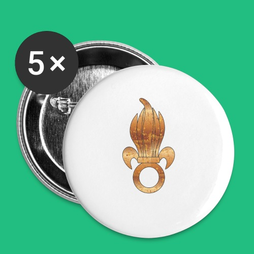 flamme légion old - Lot de 5 grands badges (56 mm)