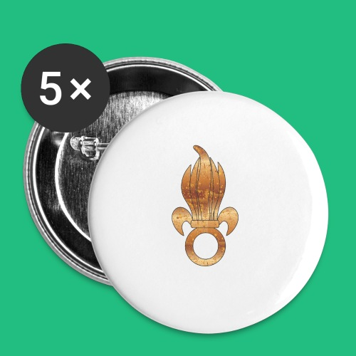flamme légion old - Lot de 5 moyens badges (32 mm)