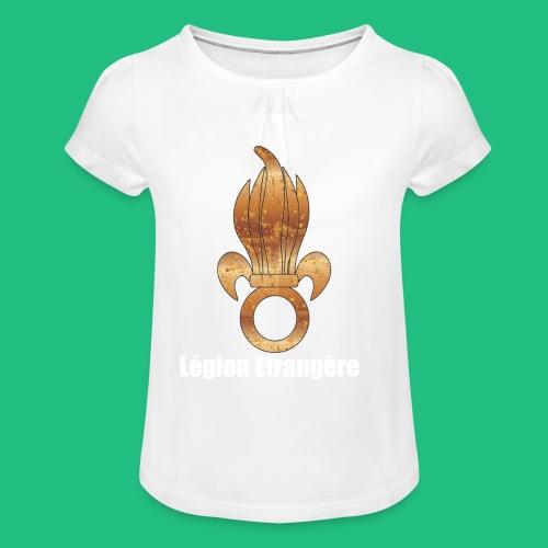 flamme légion old - T-shirt à fronces au col Fille