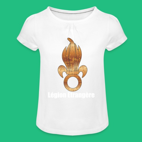 flamme légion old - T-shirt à fronces au col Fille