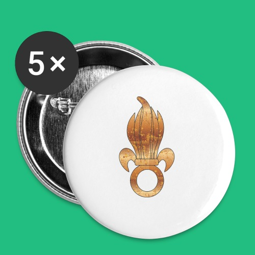 flamme légion old - Lot de 5 petits badges (25 mm)