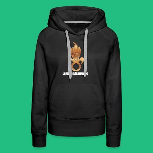 flamme légion old - Sweat-shirt à capuche Premium pour femmes