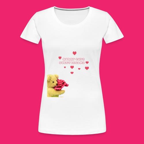 Mummy says sweet dreams bodysuit - Women's Premium T-Shirt