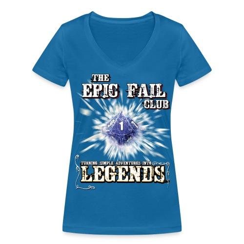 The Epic Fail Club - D10 - Women's Organic V-Neck T-Shirt by Stanley & Stella