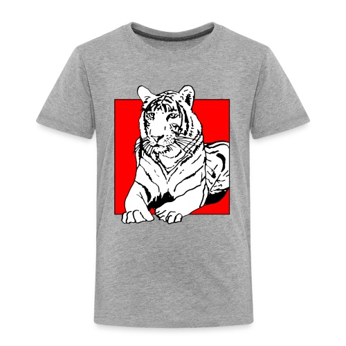 Red Cube Tiger T-Shirt - Kinder Premium T-Shirt